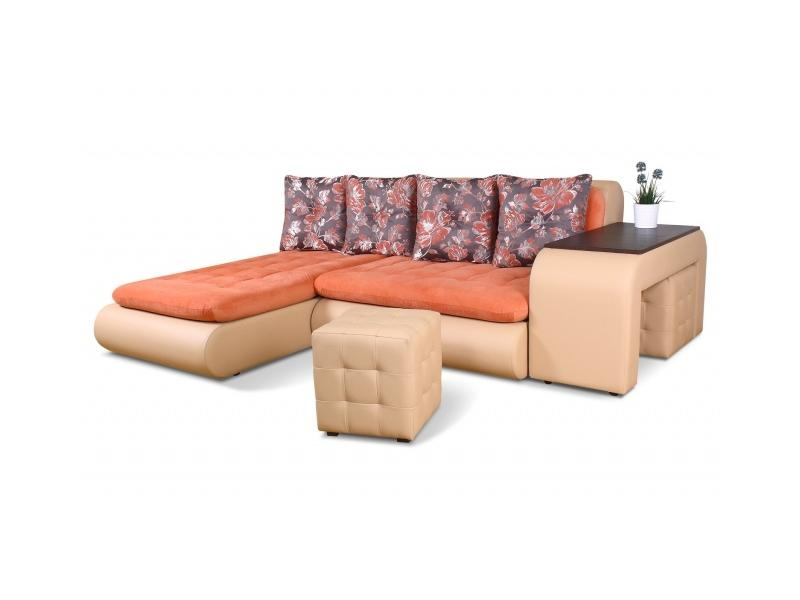 Угловой диван со столом Сенатор