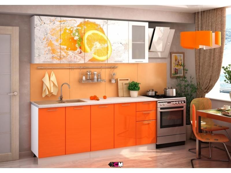 Кухня апельсин фотопечать