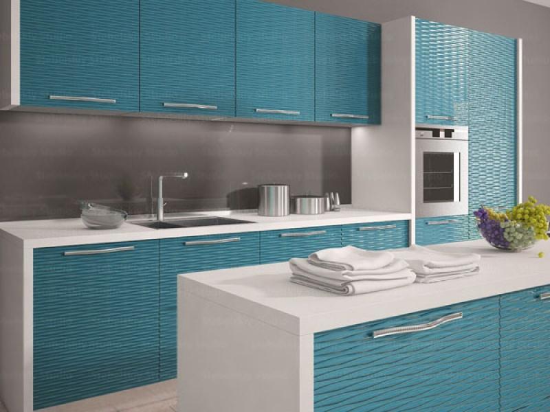 Кухня с ЗD фасадами
