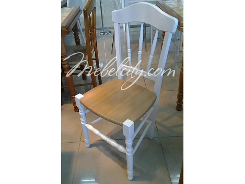 Стул 40F WHITE белый/ WOOD SEAT