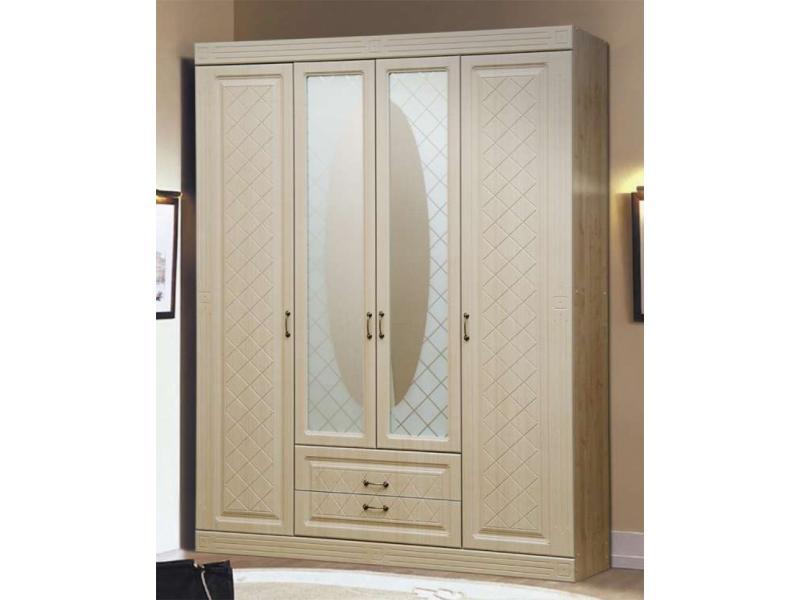 Шкаф для платья и белья фасад сага