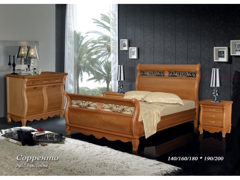 Кровать из сосны Сорренто - 2 спинки