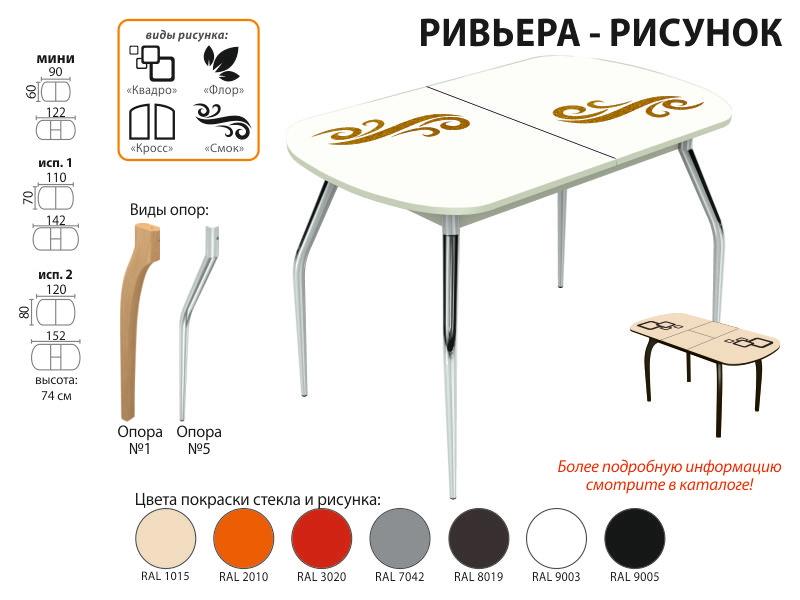 Стол обеденный Ривьера рисунок