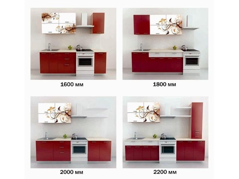 Кухонный гарнитур Бордовый орнамент