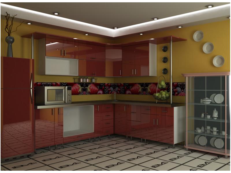Кухня угловая Одри пластик