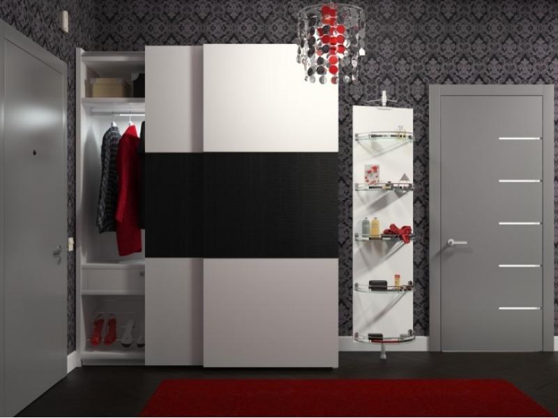 Шкаф-купе в прихожую в стиле модерн - каталог и фото мебели .