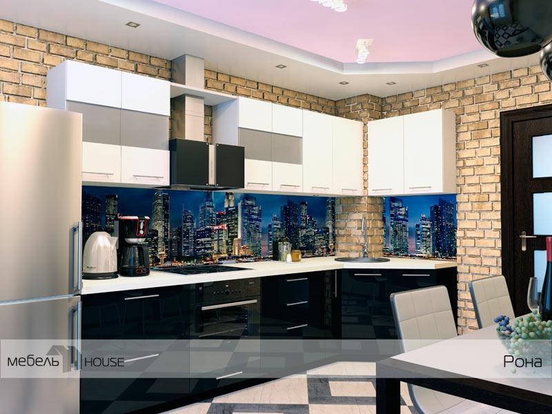 Кухонный гарнитур угловой Рона