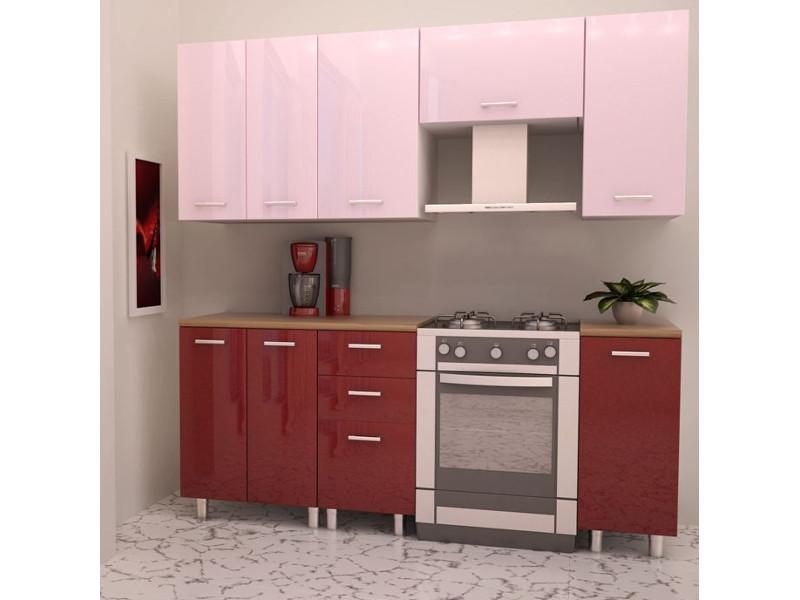 Кухонный гарнитур прямой Гранат