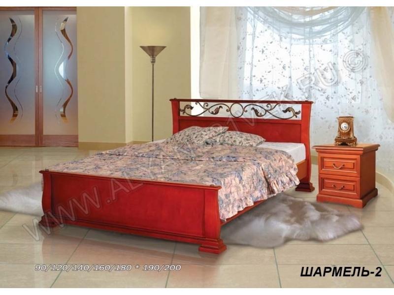 Кровать из дерева Шармель 2