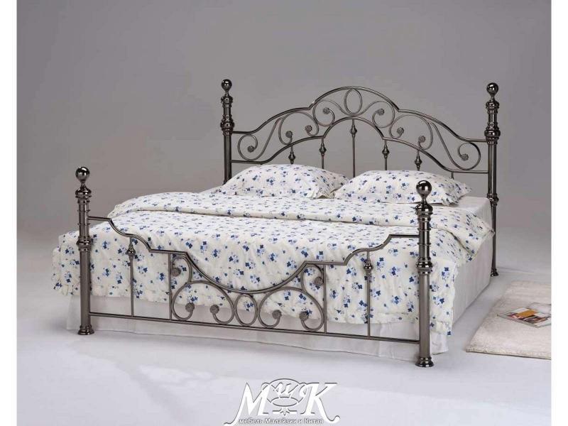 Кровать Черный никель