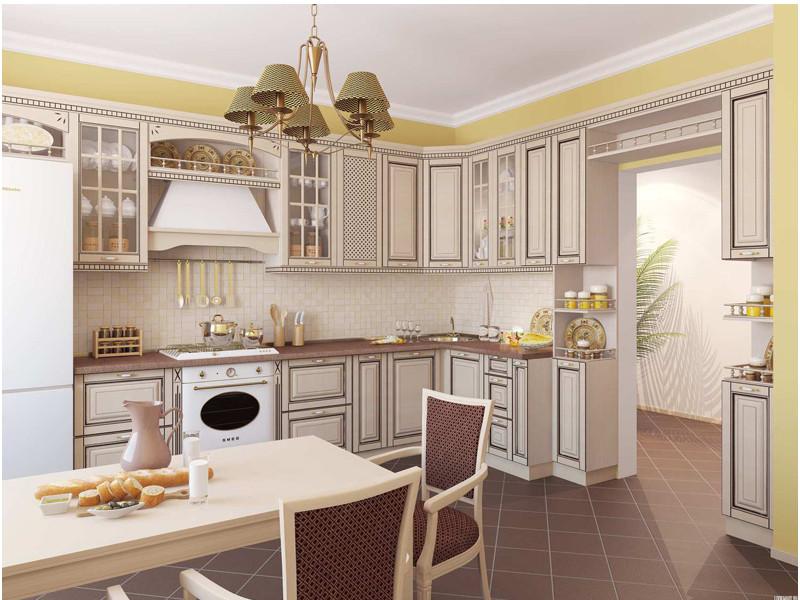 Кухня угловая Берта патина