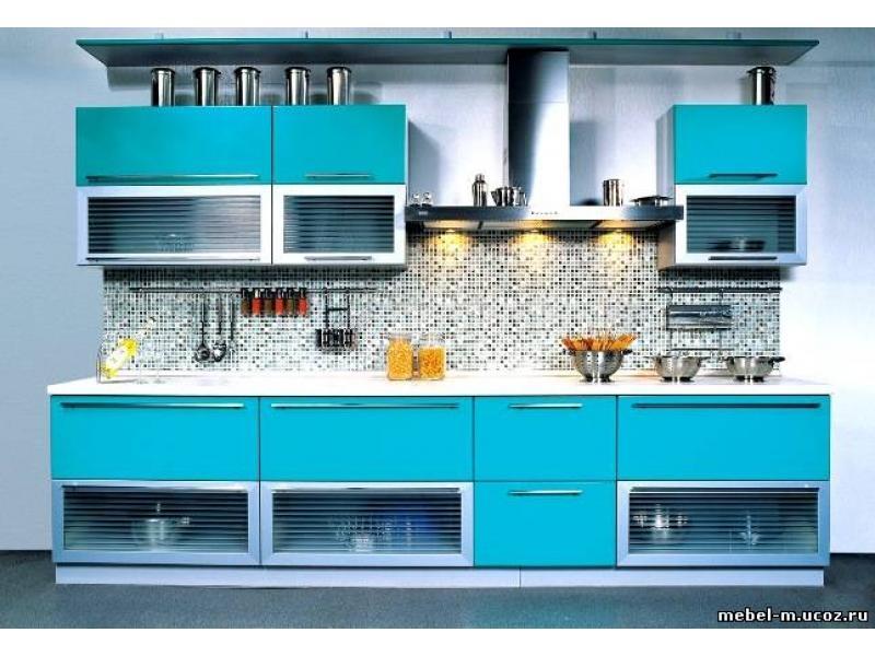 Кухня в алюминиевой рамке