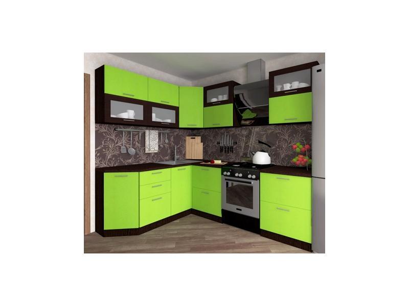 черно-зеленая кухня. фото
