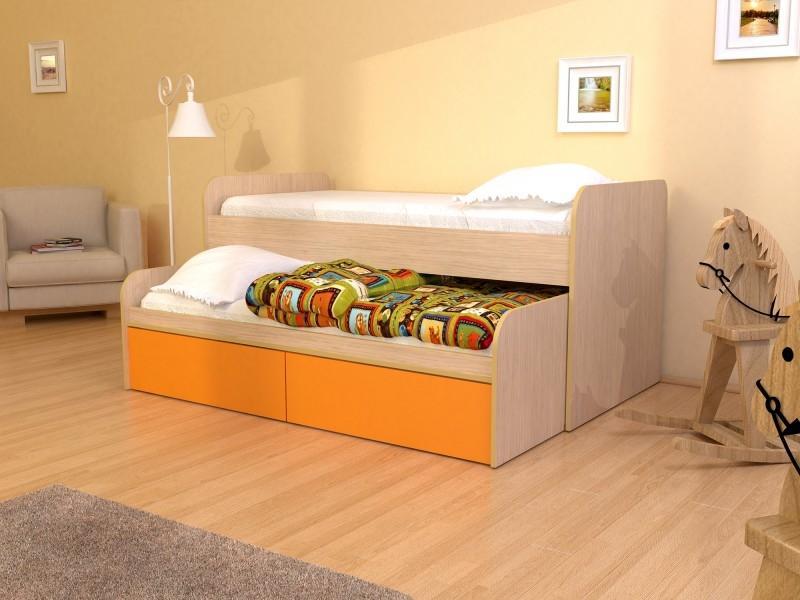 Кровать двойная с ящиками