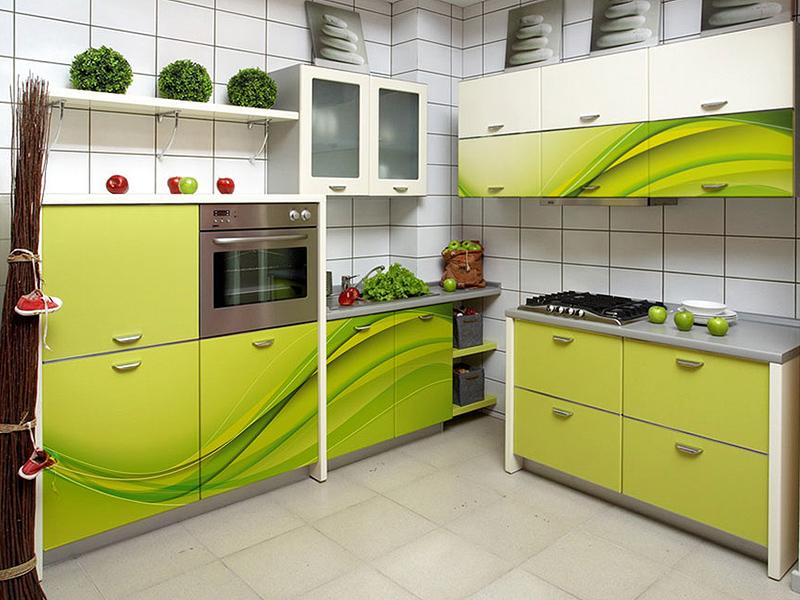 Кухонный гарнитур угловой 8 фотопечать