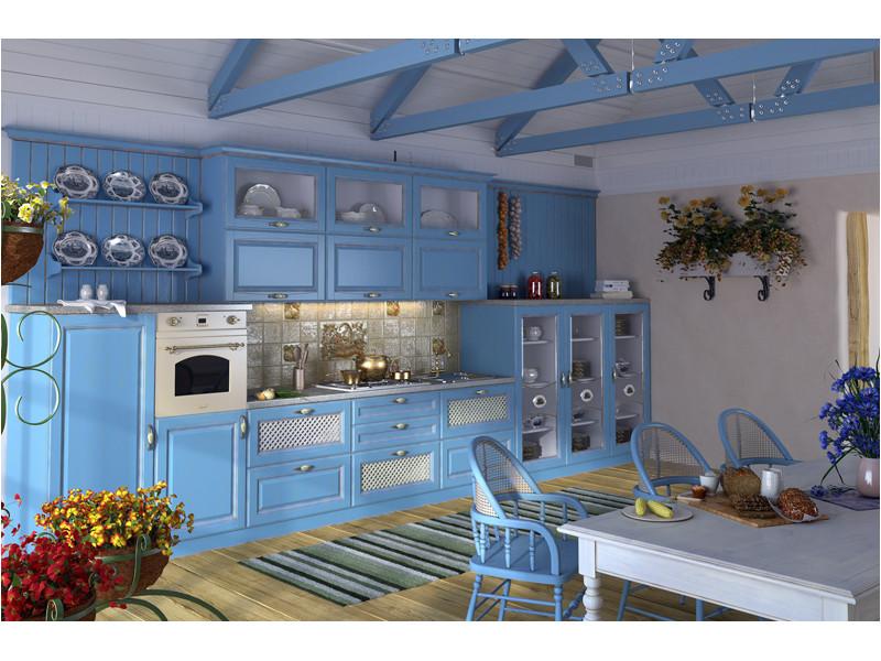 Кухня прямая Синди патина