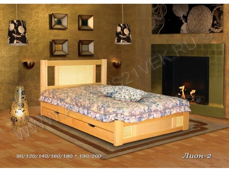 Кровать из дерева Лион 2