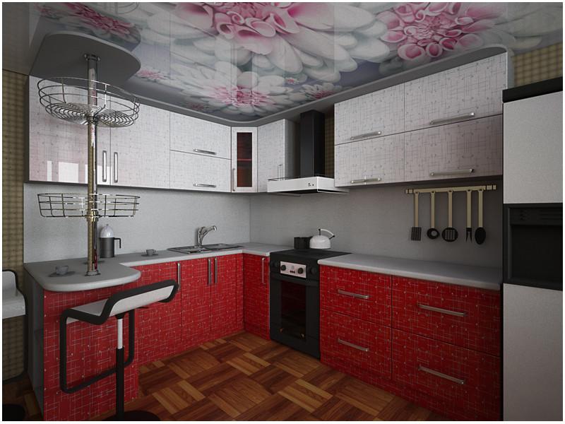 Кухня угловая МДФ Сильвия