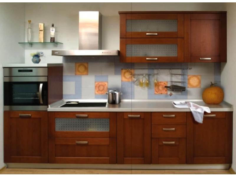 Кухонный гарнитур прямой Паола