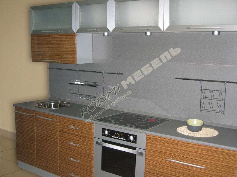 Кухонный гарнитур прямой ЗЕБРАНО