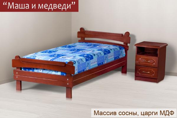 Кровать «Маша и медведи»