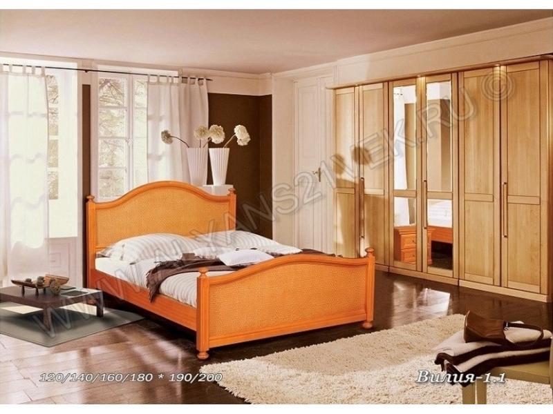 Кровать из дерева Вилия 1.1
