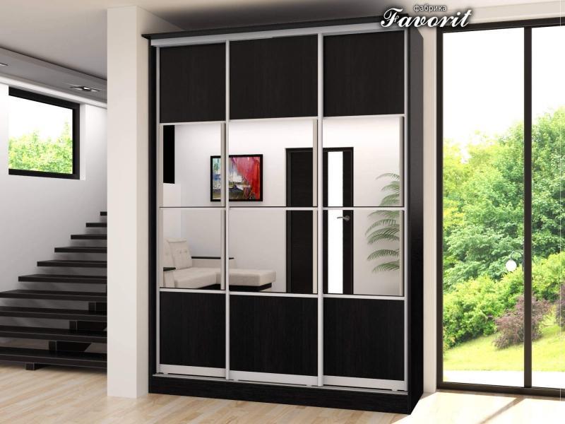 Шкафы купе с пескоструйным рисунком на стекле или зеркламе