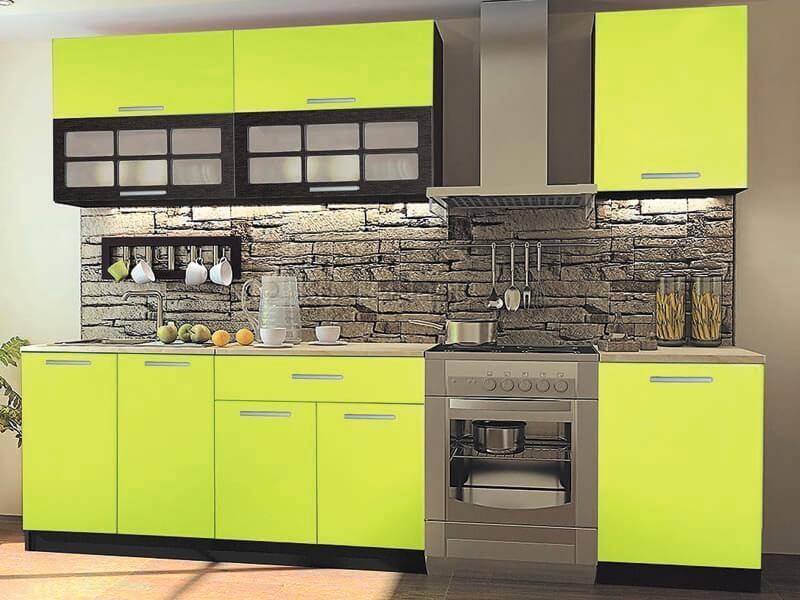 Недорогие зеленые кухни