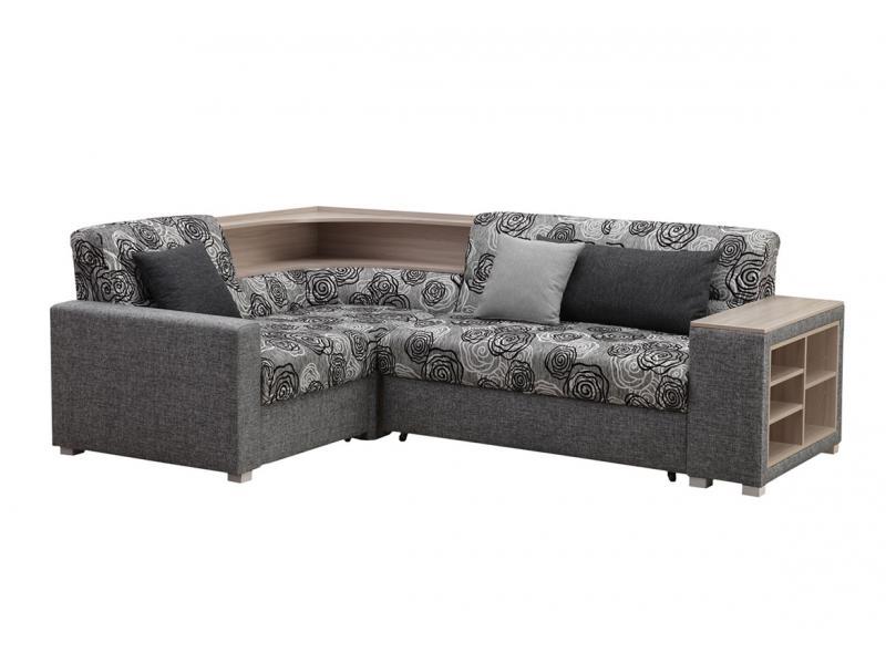 Угловой диван Виктория с полкой