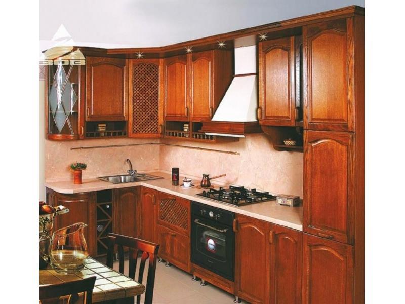 Кухня угловая «Уют массив»