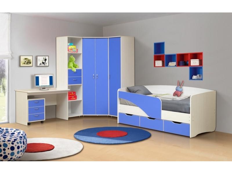 Мебель для детской в голубом цвете Алиса 2