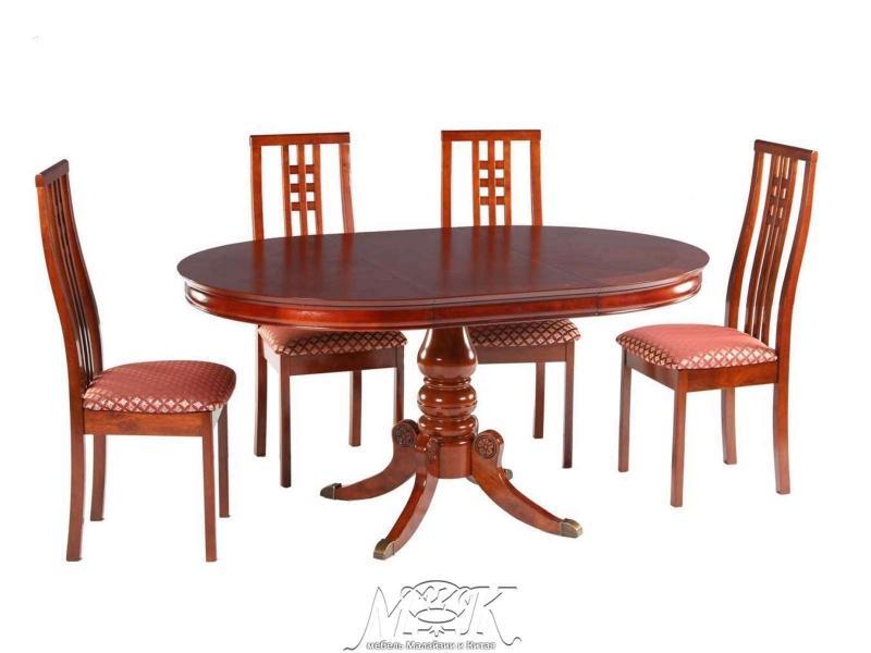 Кухонные столы и стулья овальные