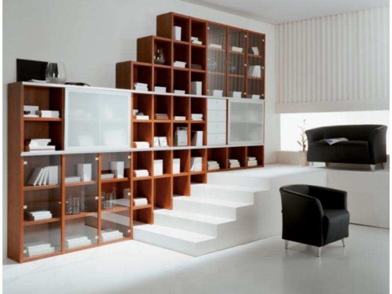 Современная библиотека в гостиной мистер дорс - каталог и фо.