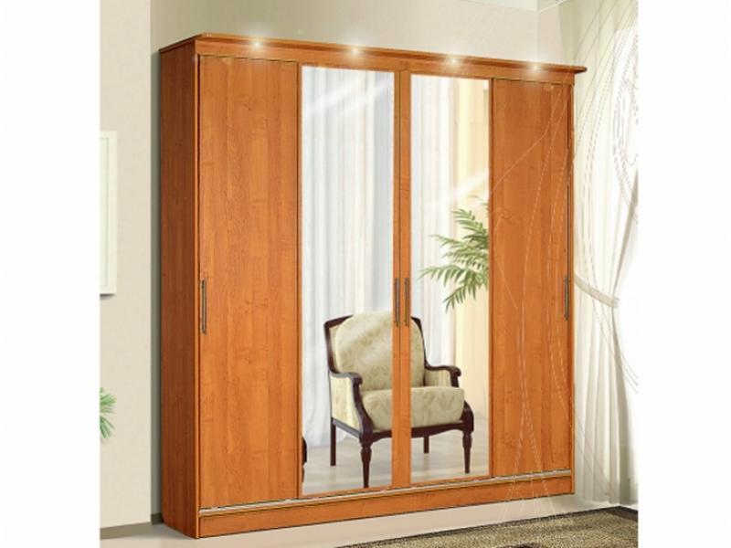 Шкаф – купе для платья 4-х дверный с зеркалами