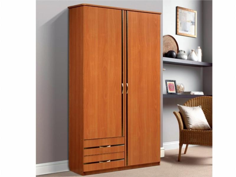Шкаф для платья и белья В-1 2-х створчатый с 2-мя ящиками