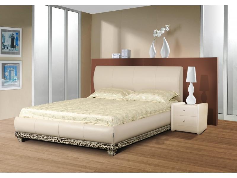 Кровать Люксор массив бука экокожа