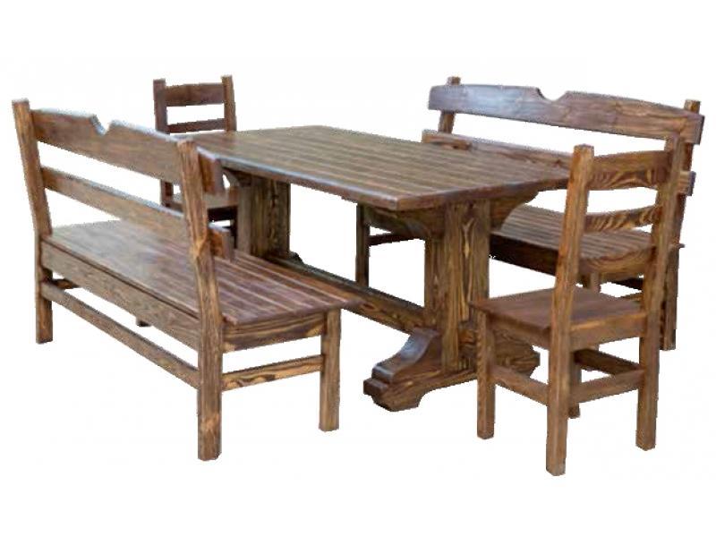 Стол деревянный садовый 02