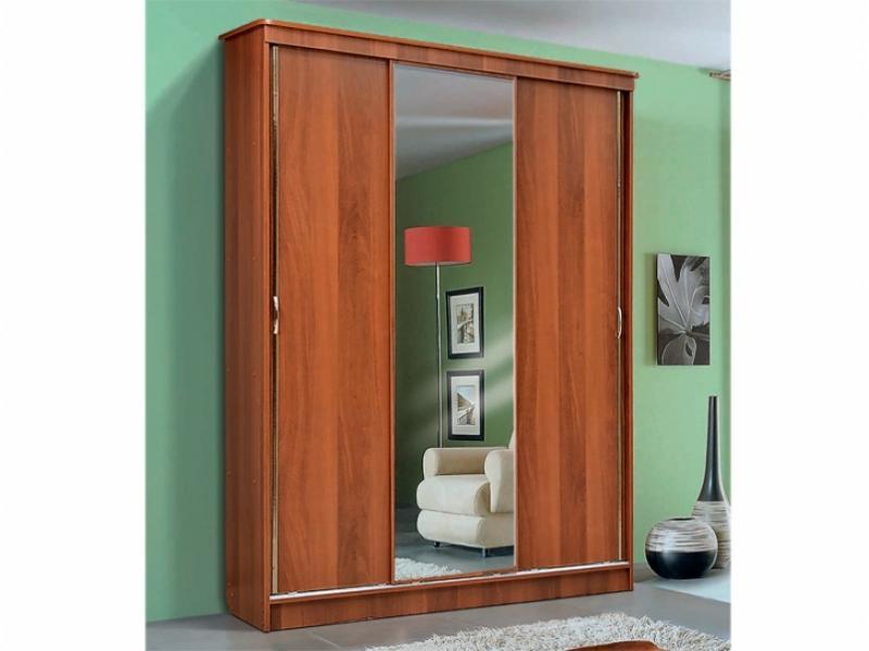 Шкаф – купе для платья и белья 3-х дверный с зеркалом