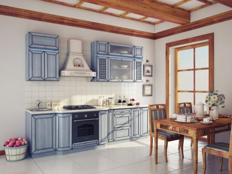 Кухня прямая Аква