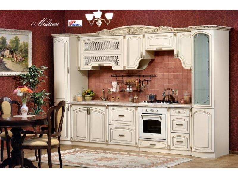 Кухонный гарнитур прямой Мадлен крем