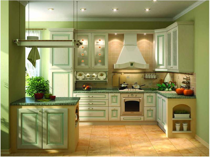 Кухня угловая Диана патина