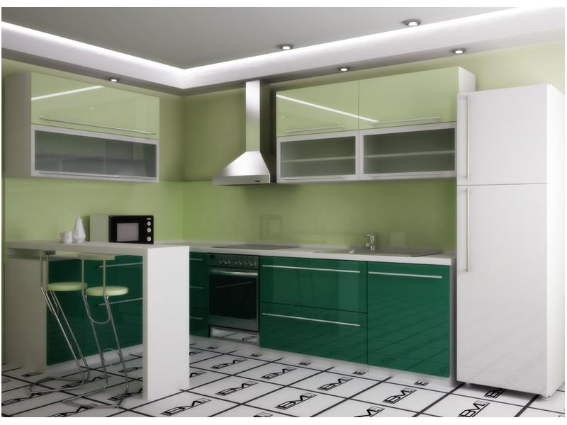 Кухня угловая Эрин пластик