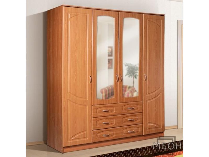 Шкаф Александрия 4 4х дверный с ящиками