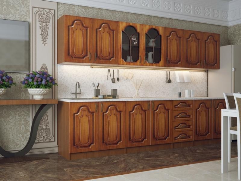 Кухонный гарнитур прямой МДФ