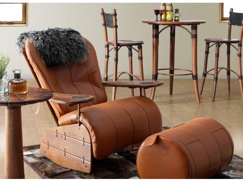 Кресло качалка в охотничьем стиле