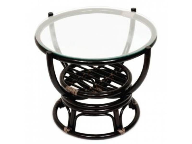 Стол из ротанга  со стеклом ТЕОДОР