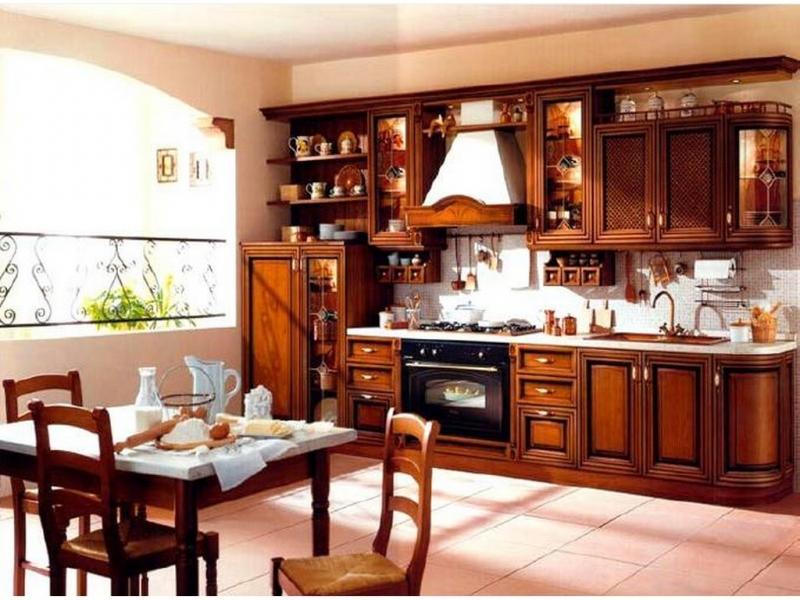 Кухня Рикко с патиной