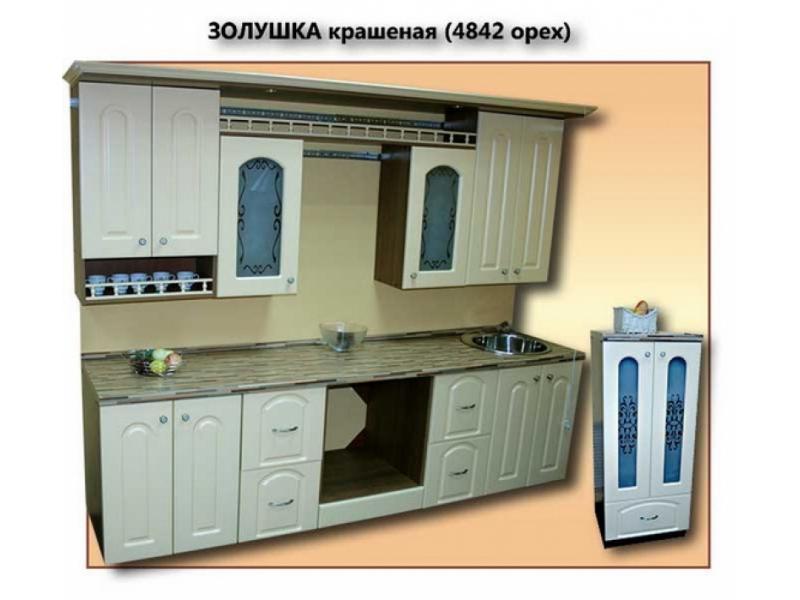 кухня Золушка крашеная глянцевая (4842 орех)