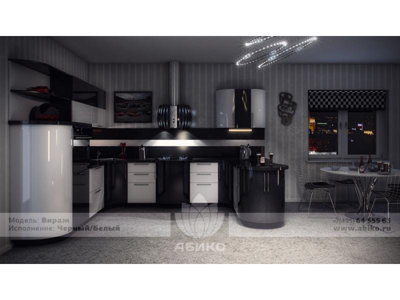 Кухня Вираж Черный/Белый