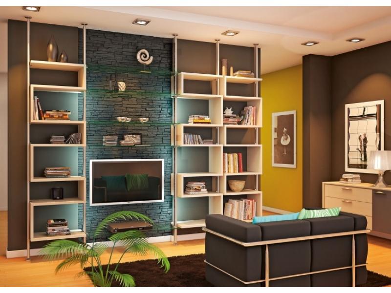 Открытый стеллаж для гостиной - каталог и фото мебели mr.doo.